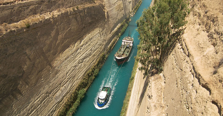 korintski kanal peloponez