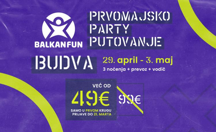 Party putovanje Budva