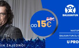 Balkan Fun 2020 prvi maj, Aca lukas baner