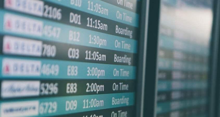 kontrolna tabla na aerodromu