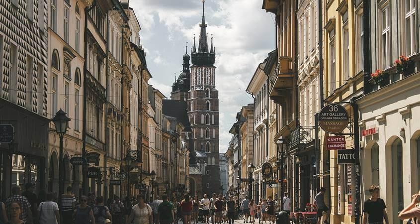 turisti na ulicama Krakova
