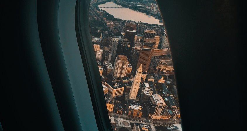 Pogled na Njujork iz aviona
