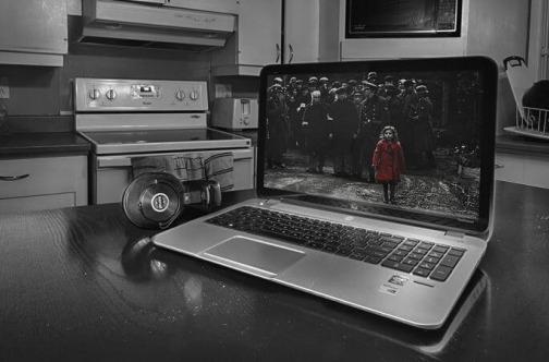 Film na laptopu