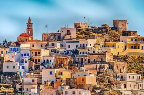 Šarene kućice u grčkom selu