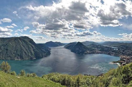 Jezero Lugano u Švajcarskoj