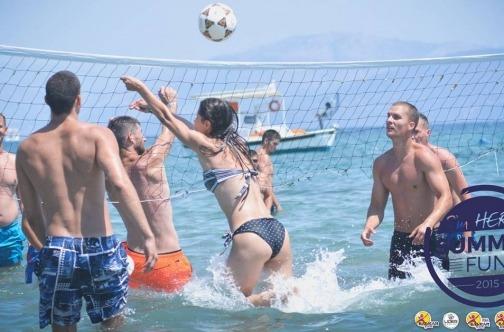 Beach volleyball na Krfu, na Porto Bello plaži