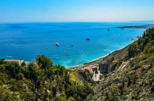 sicilija panorama more